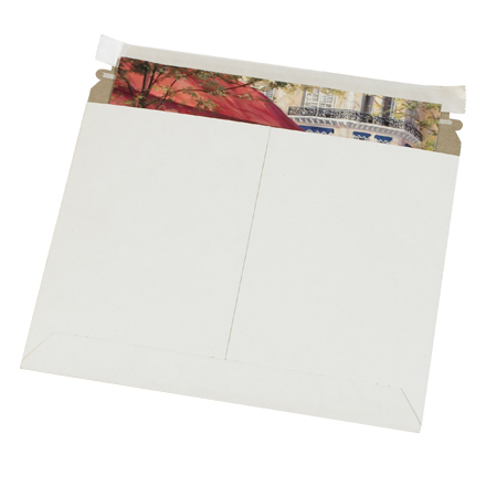 "13 <span class='fraction'>1/2</span> x 11"" White Utility Flat Mailers"
