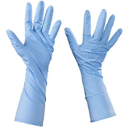 Nitrile Gloves with Extended Cuffs - Medium