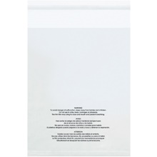 "12 x 16"" - 1.5 Mil Resealable Suffocation Warning Poly Bags"