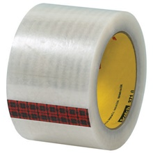 "3"" x 110 yds. Clear (6 Pack) 3M 371 Carton Sealing Tape"