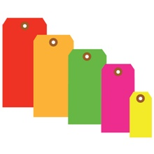 13 Pt. Shipping Tags - Fluorescent