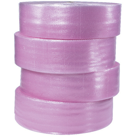 "3/16"" x 12"" x 750' (4) Perforated Anti-Static Air Bubble Rolls"