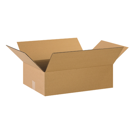 "22 x 14 x 4"" Flat Corrugated Boxes"