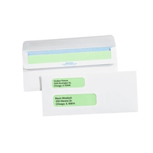 "3 <span class='fraction'>7/8</span> x 8 <span class='fraction'>7/8</span>"" - #9 Double Window Redi-Seal Business Envelopes with Security Tint"