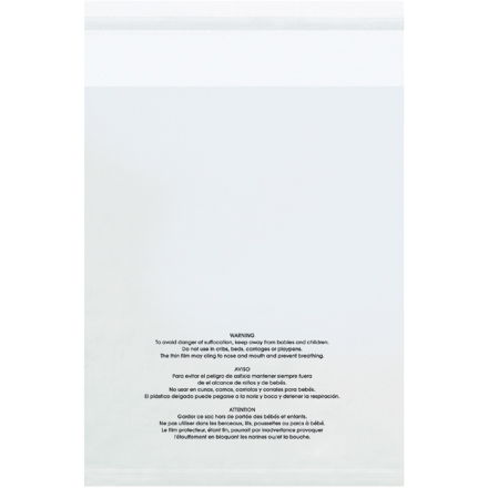 "10 x 12"" - 1.5 Mil Resealable Suffocation Warning Poly Bags"